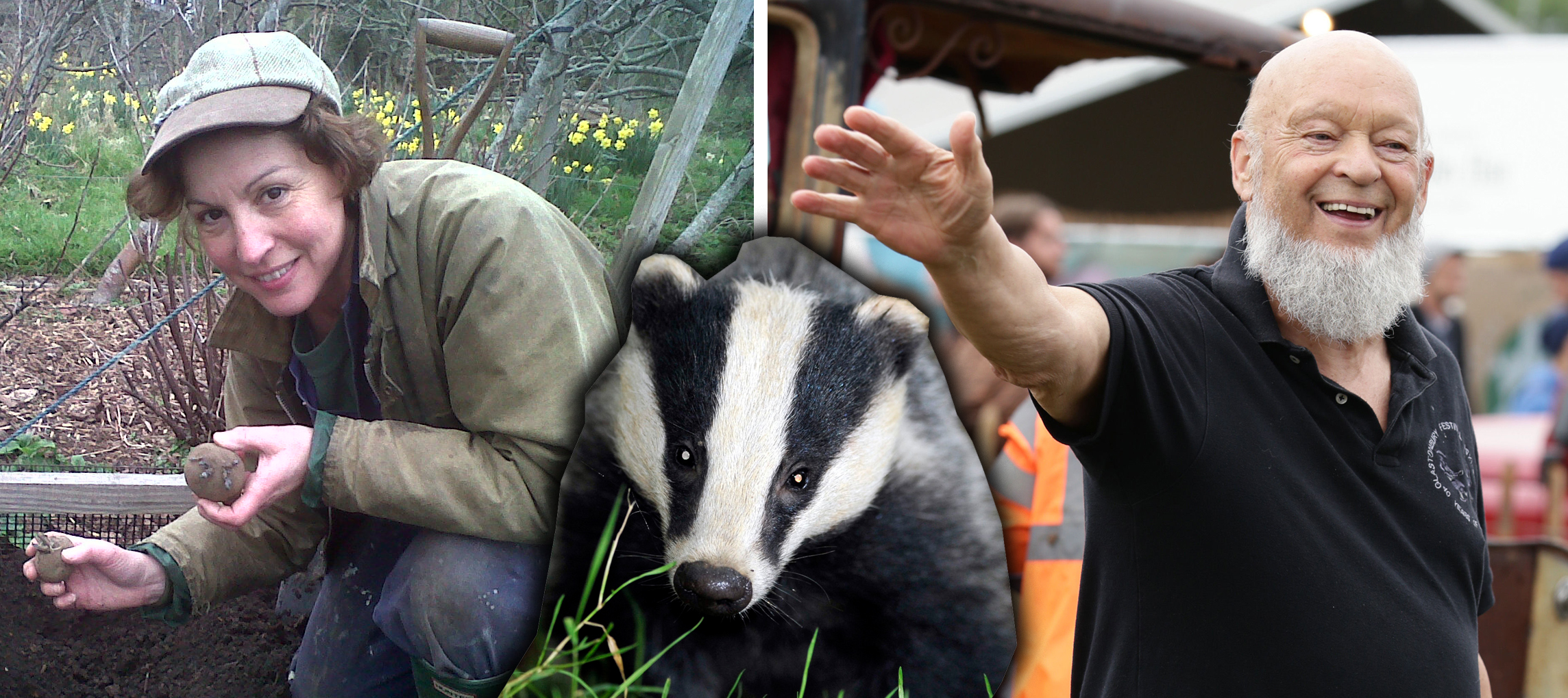 RESIGN: Rebecca Pow and Michael Eavis leave Somerset Wildlife Trust. Picture: Ben Birchall/PA Wire.