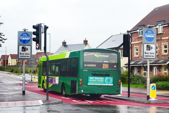 FINED: A Taunton bus gate