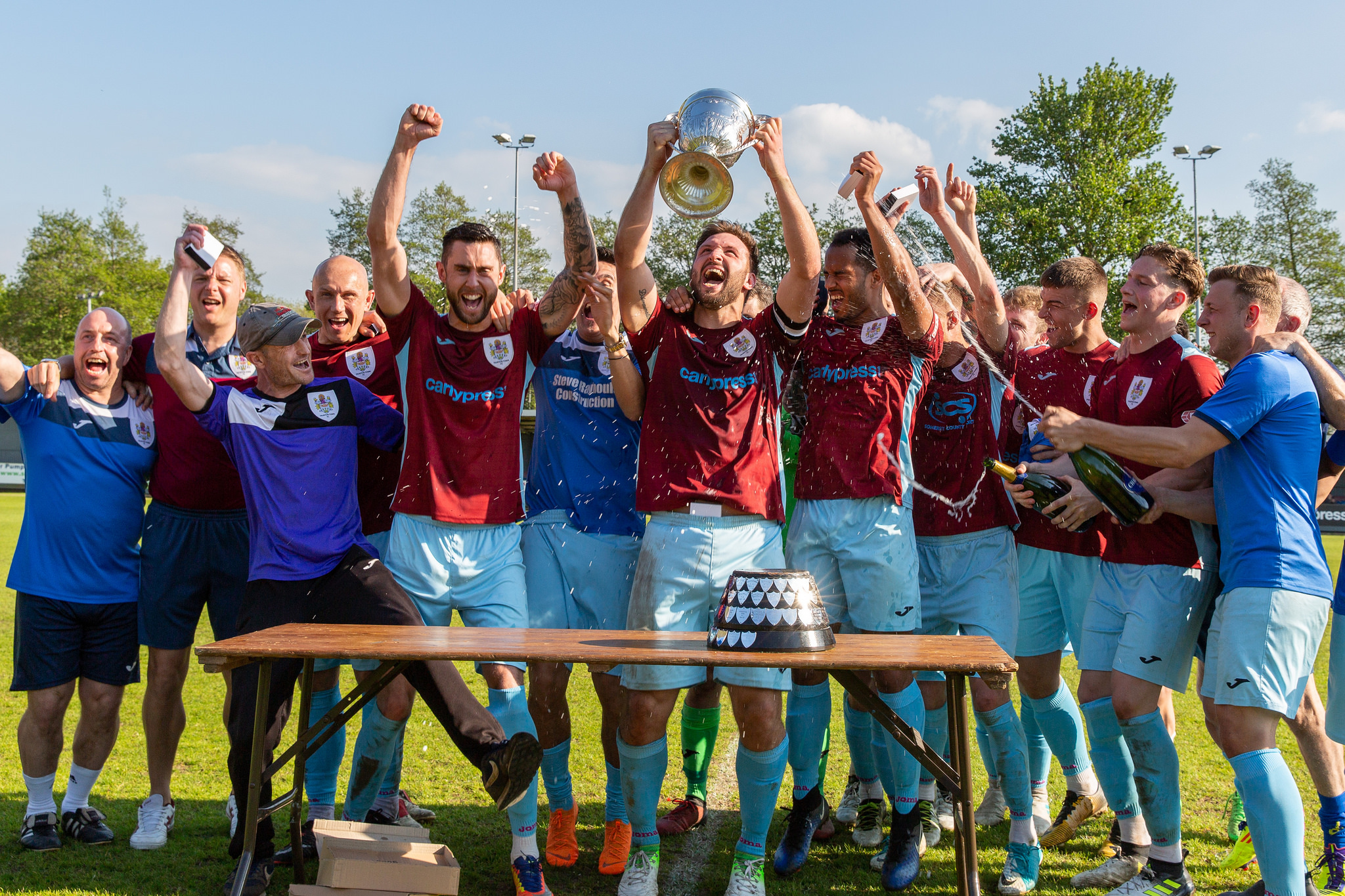 PARTY TIME: Taunton Town - last season's Southern League 'champion of champions'. Pic: Tim Norbury