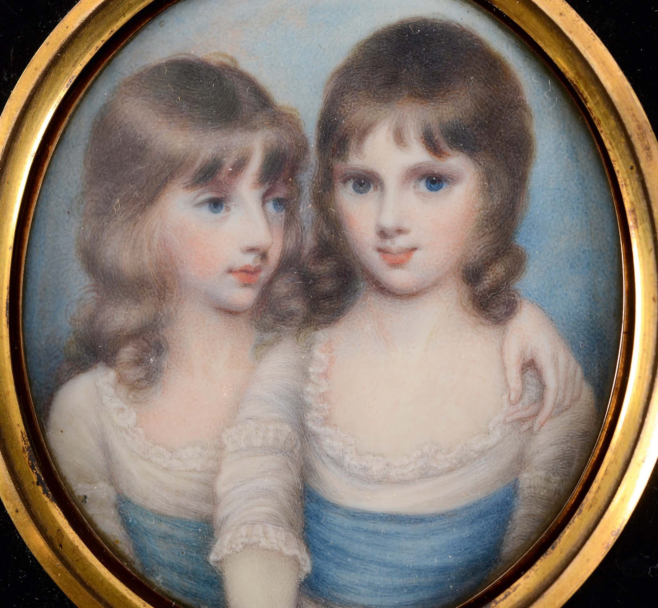 DETAILED: Portrait miniature depicting children of the 5th Earl of Carlisle
