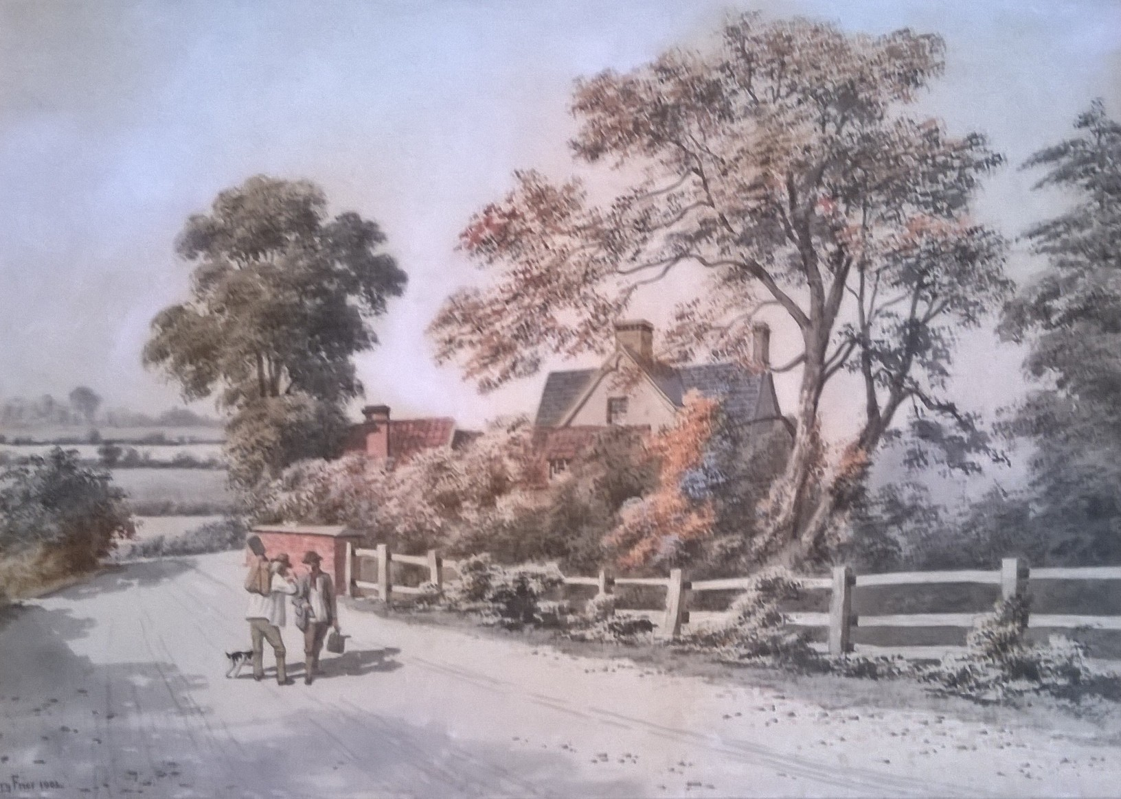 BUCOLIC SCENE: The Cross Keys Inn from the East at Norton Fitzwarren, near Taunton, which features in Greenslade Taylor Hunt's next sale on Thursday, August 2