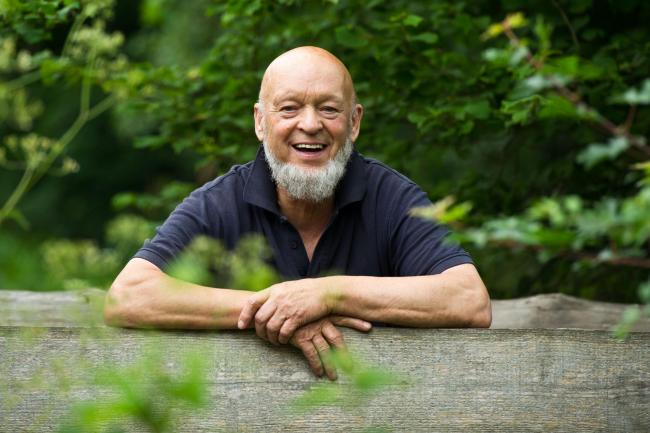 ENCOURAGEMENT: Michael Eavis giving away free festival tickets to trainee nurses. PIC: Glastonbury/PA Wire