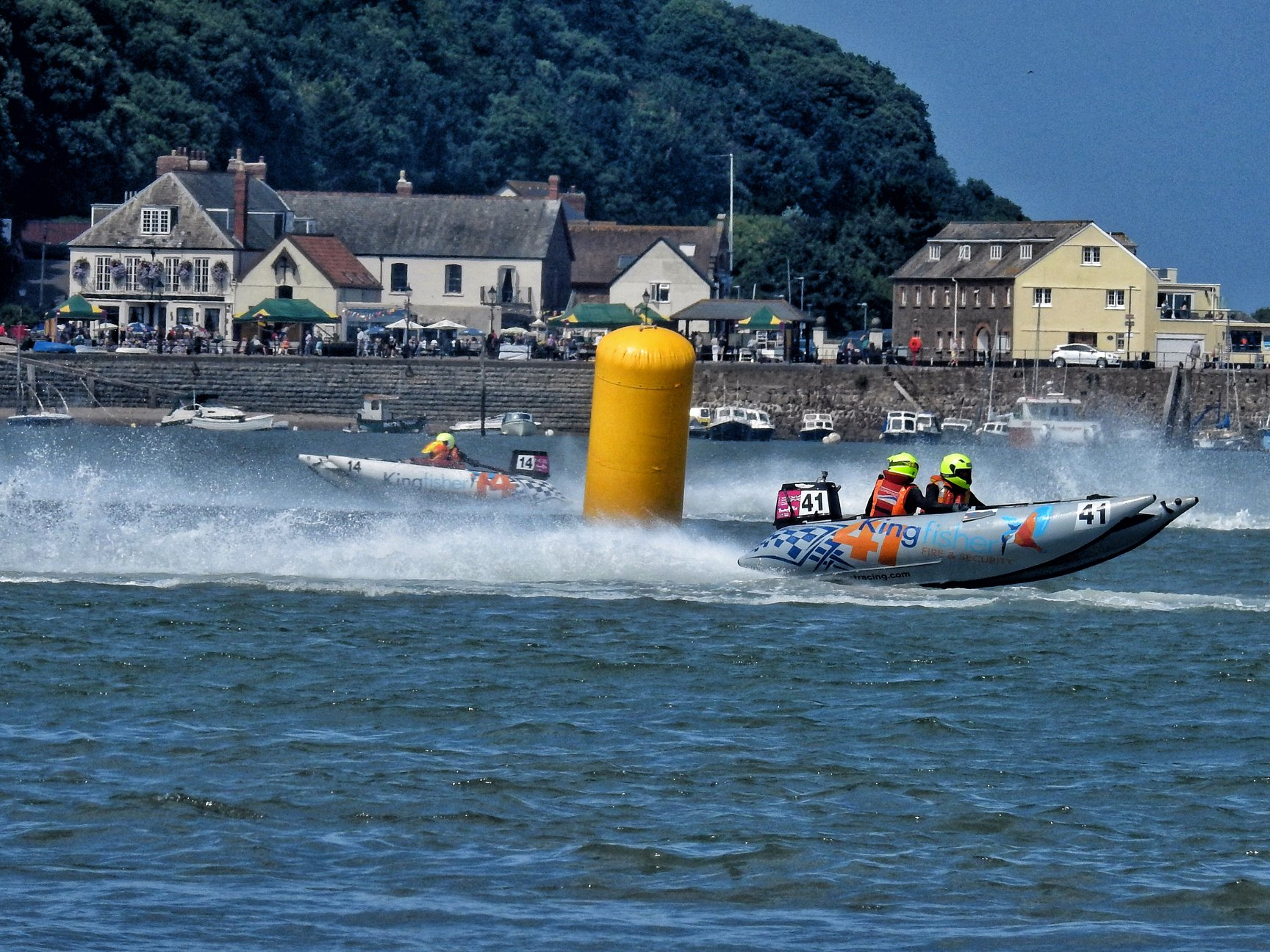 RACING DRAMA: There was some fantastic powerboat racing with the Thundercats (Picture by Paul Davies)