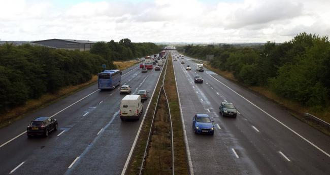 Traffic stopped on M5 after late-night crash