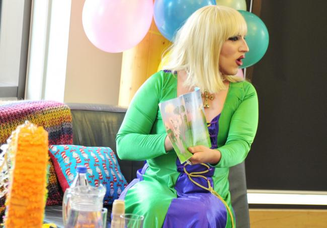 PERFORMANCE: Drag Queen Story Time at Swindon central library last year. Pic by Dave Cox