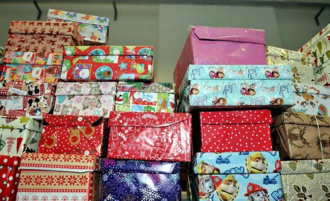 Christmas Shoebox.Letter Christmas Shoebox Collection Launched Somerset
