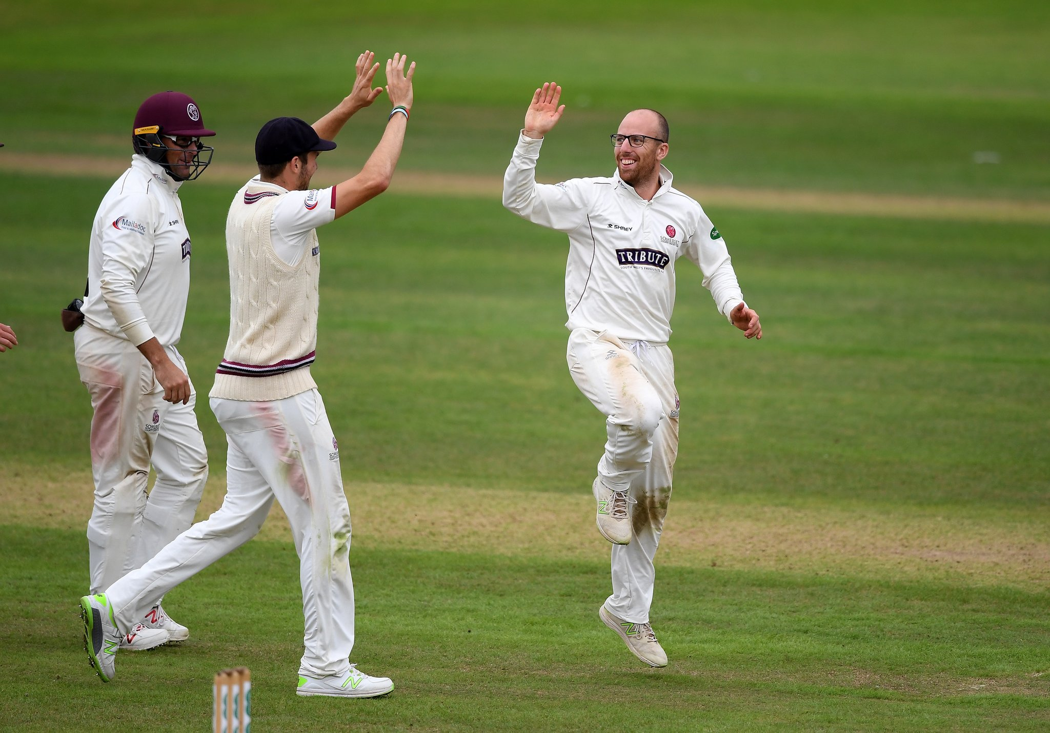 STELLAR PERFORMANCE: Jack Leach took six wickets to see off Notts. Pic: SCCC