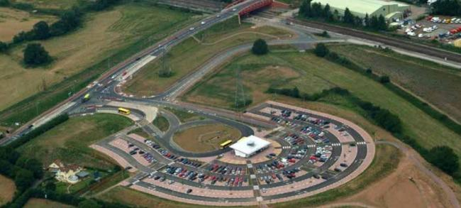 PARK AND RIDE: One of Taunton's Park and Ride sites