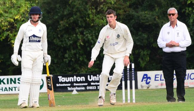 DEFEATED: Calvin Harrison in action for Taunton Deane on Saturday.