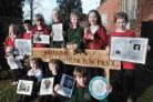 Pictured are pupils showing off some of their creative 'Big Answers'