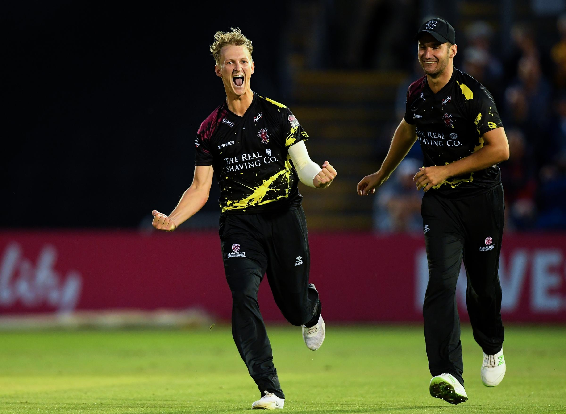 NEW DEAL: Max Waller will remain a part of Somerset's T20 side for at least the next two years. Pic: Alex Davidson/SCCC