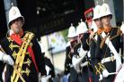 PERFORMING IN TAUNTON: Her Majesty's Band of the Royal Marines, who are appearing at Queen's Hall