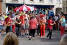 LIVELY: Fun action in High Street