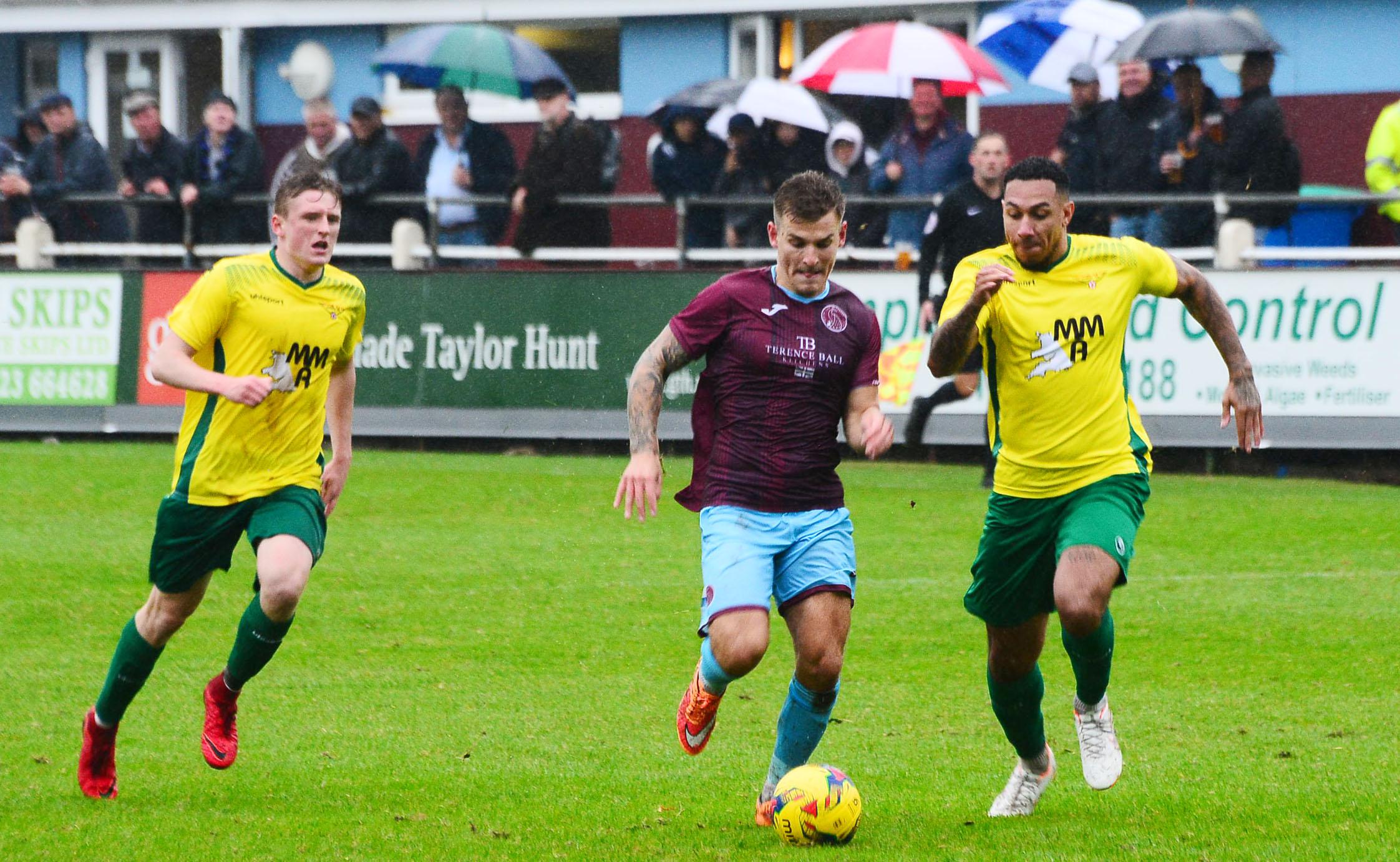 FOOTBALL: Ollie Chamberlain sent off as Taunton Town lose at Gosport Borough