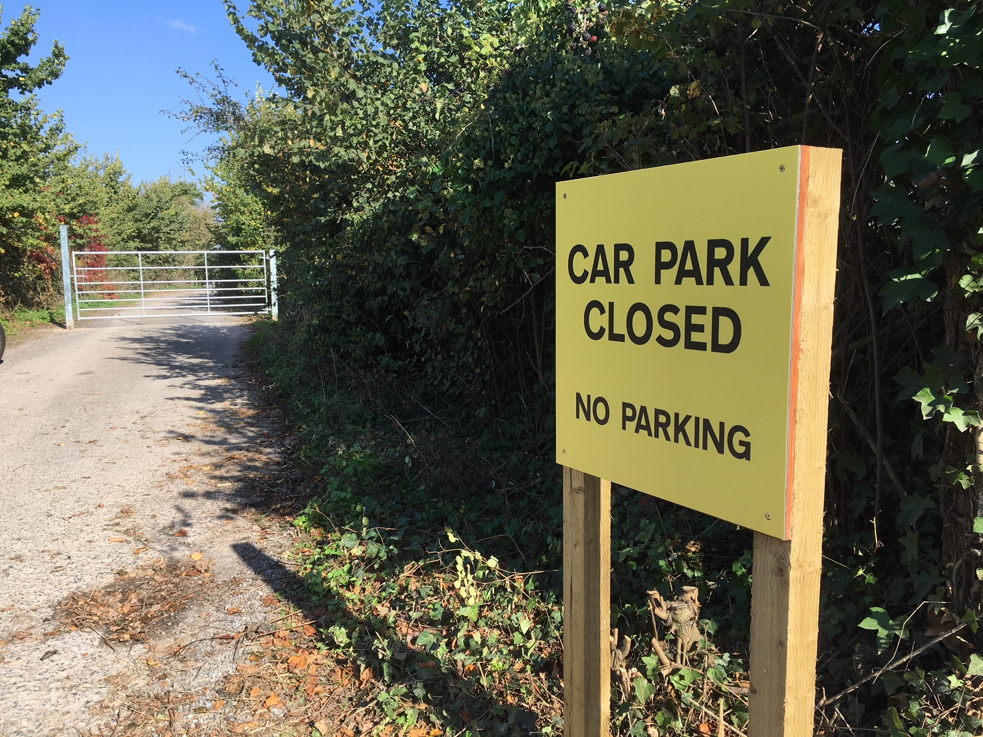 CLOSED: Doniford Car Park has been shut due to concerns over health and safety