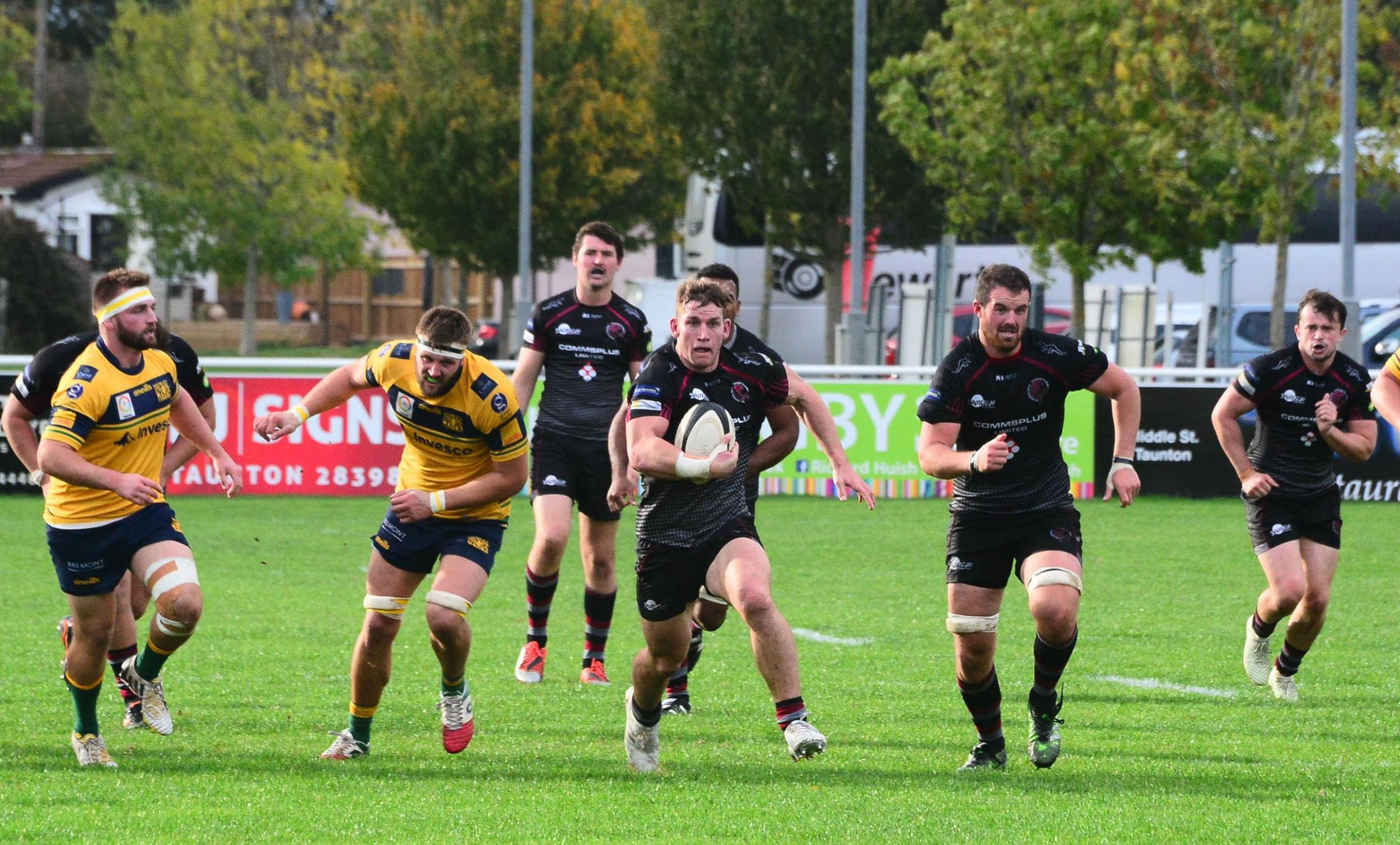 ON THE RUN: Jarrard Hayler in action for Taunton Titans against Henley