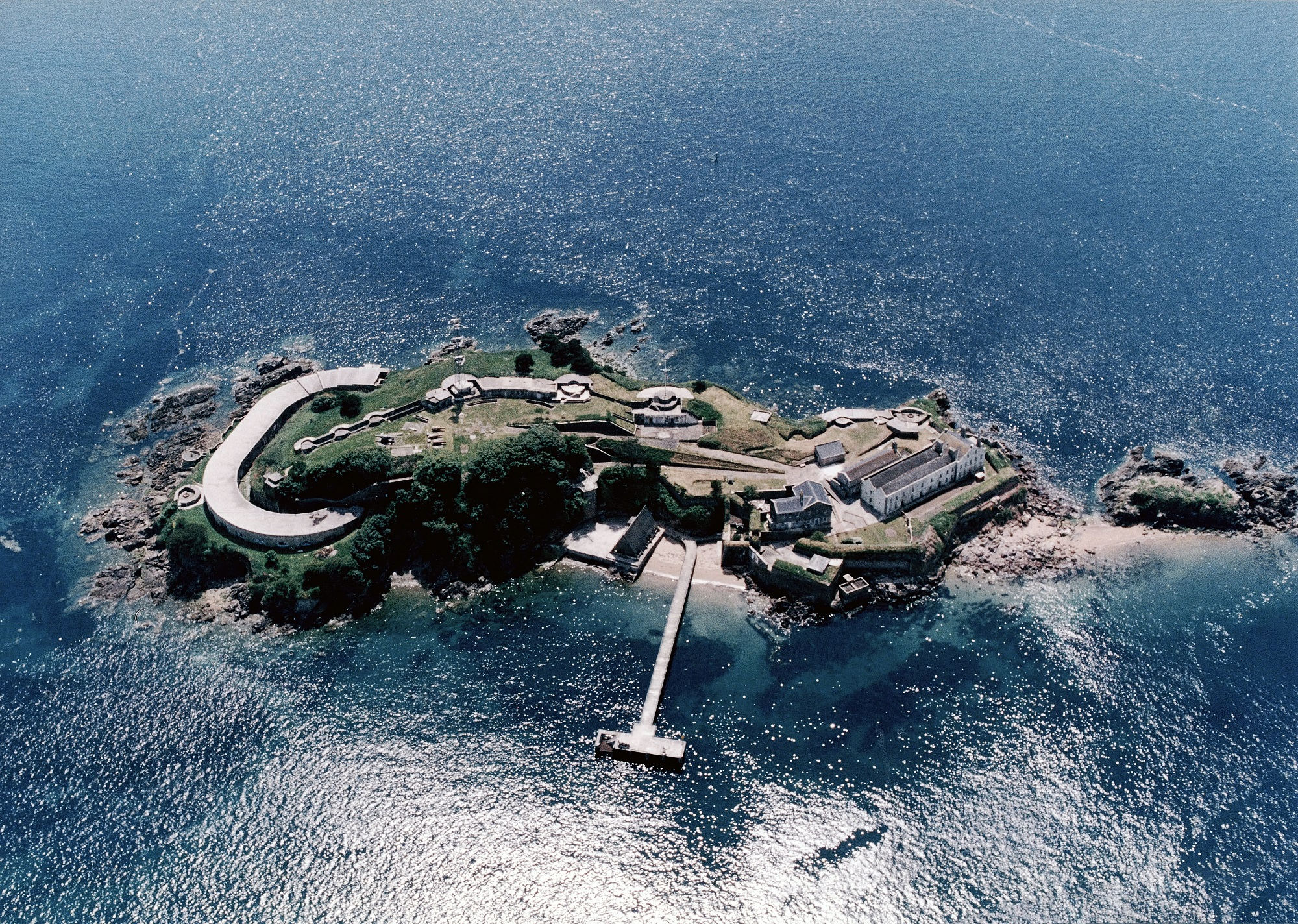 Chance to own an island with an underground tunnel network