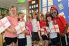 St George's Day fun at Creech St Michael