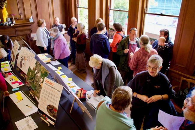 INTEREST: Visitors at the Tonedale consultation day