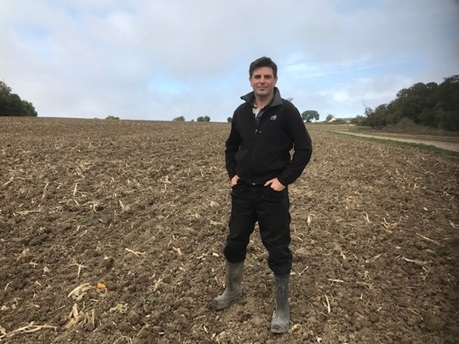 POSITIVE: Sam Passmore, of Manor Farm at Otterhampton near Bridgwater, who was successful in a bid for maize management funding