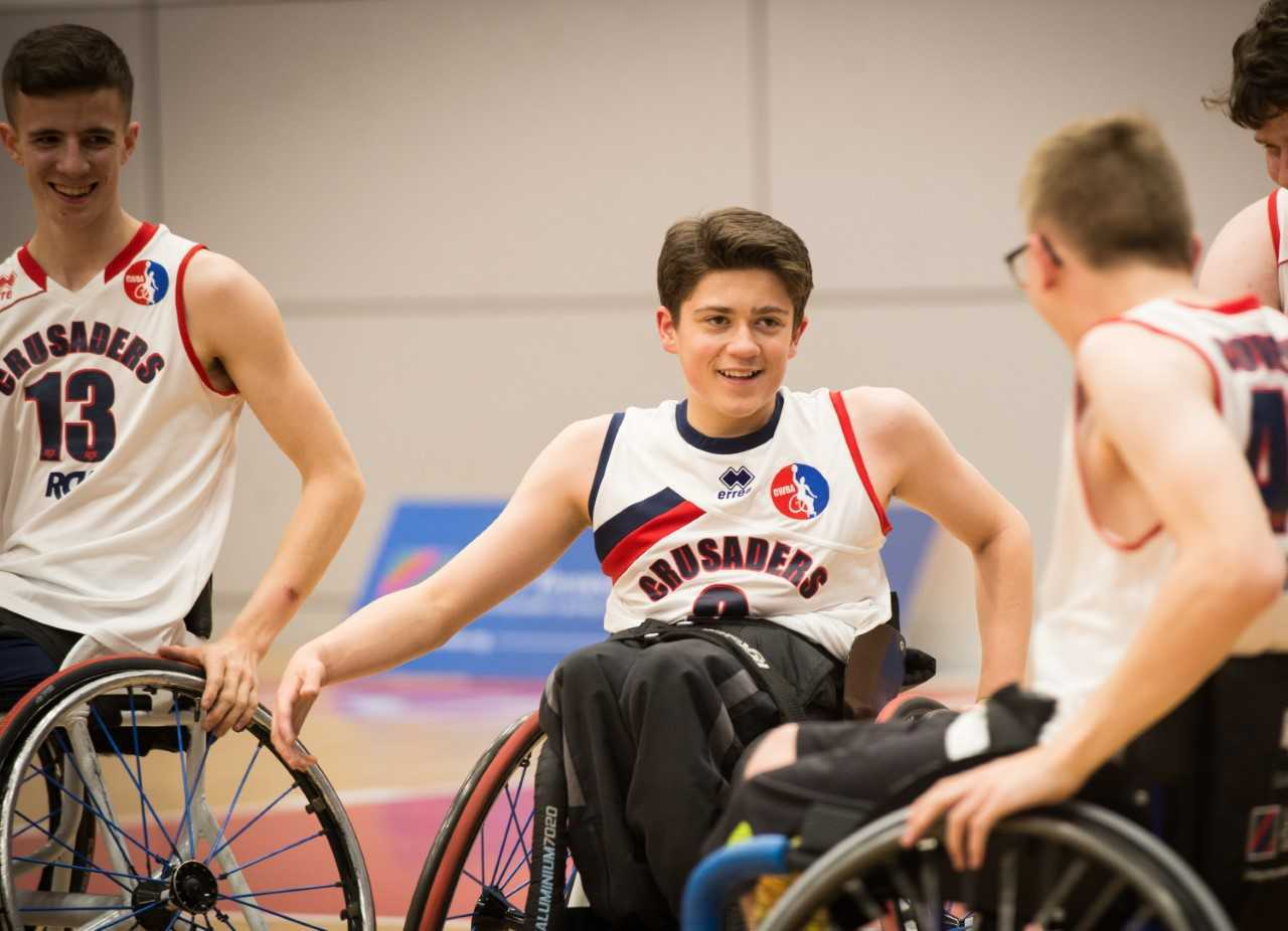 Junior league wheelchair basketball