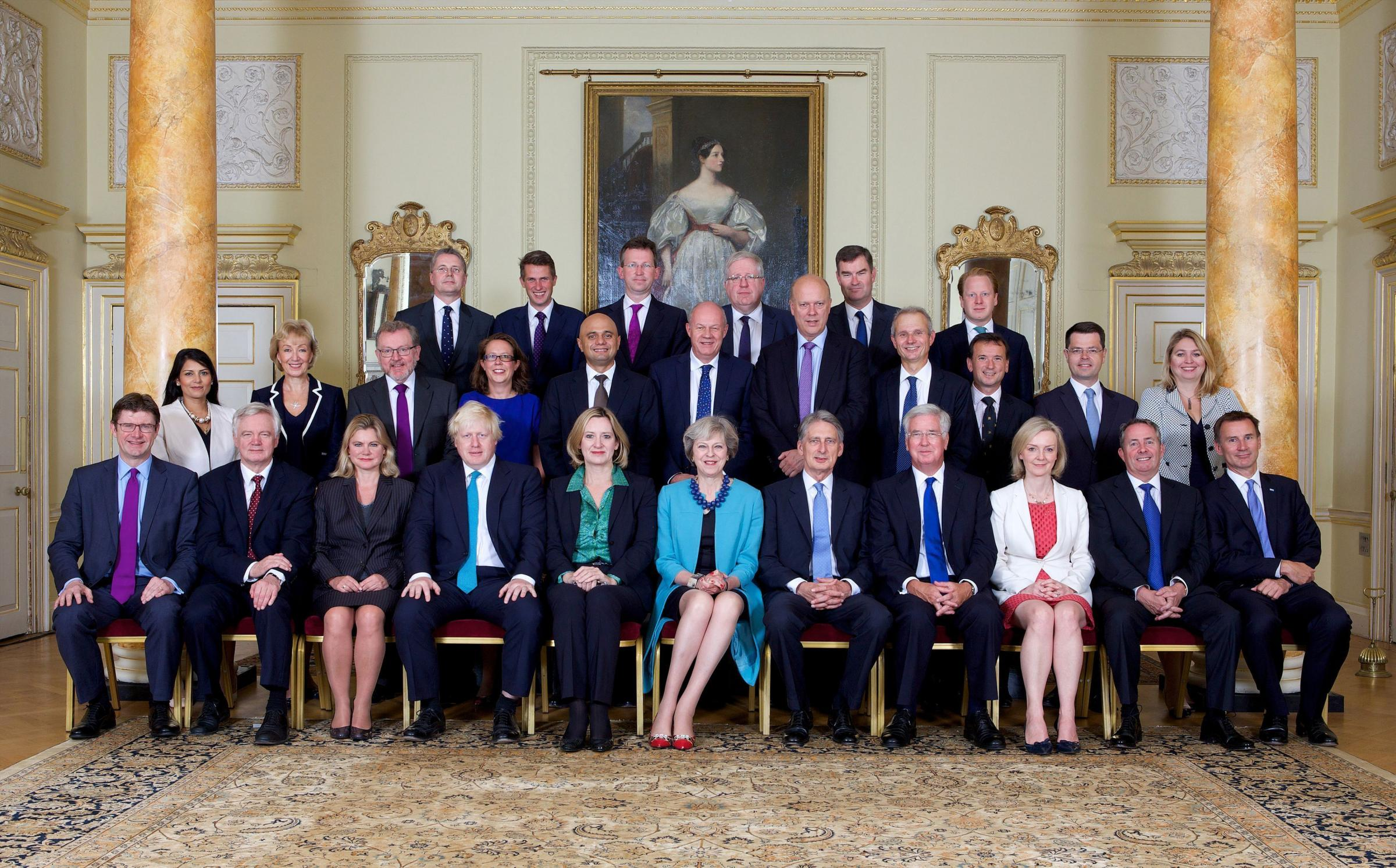 CABBAGES?: The former cabinet of Theresa May. PICTURE: Zoe Norfolk/Downing Street/PA Wire