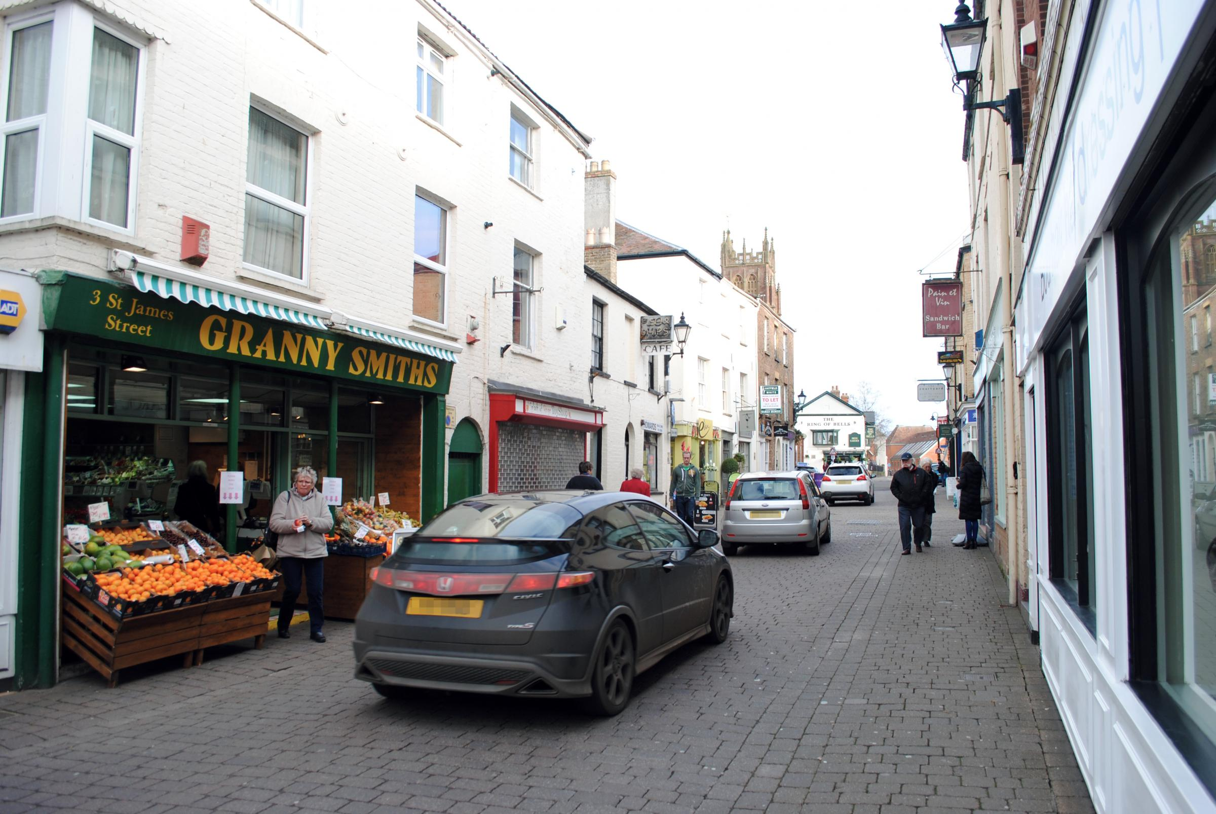 NO CARS GO: St James Street is among those affected by the pedestrianisation plan