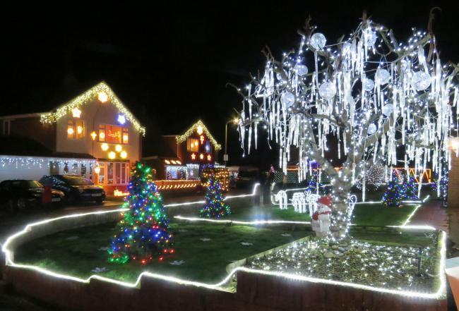 Homes In Trinity Close Burnham Unveiled Christmas Display