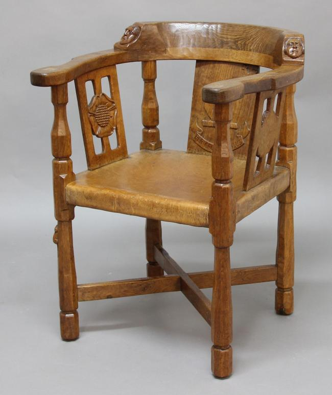 AUCTION:  'Mouseman' monks chairs to be sold