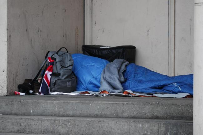 HELP AT HAND: A rough sleeper on the street