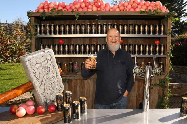 TASTE OF SOMERSET: Michael Eavis enjoys a Mallets Cider, which will be on offer at the Glastonbury Festival. PICTURE: Jason Bryant