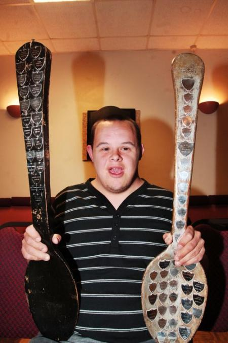 DANIEL Aspin, of Drunk Not Thursday, who won the Wooden Spoon in Division B.