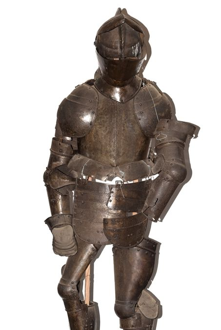 AUCTION BATTLE: Life size suits of armour sold at Greenslade Taylor Hunt's December antiques sale