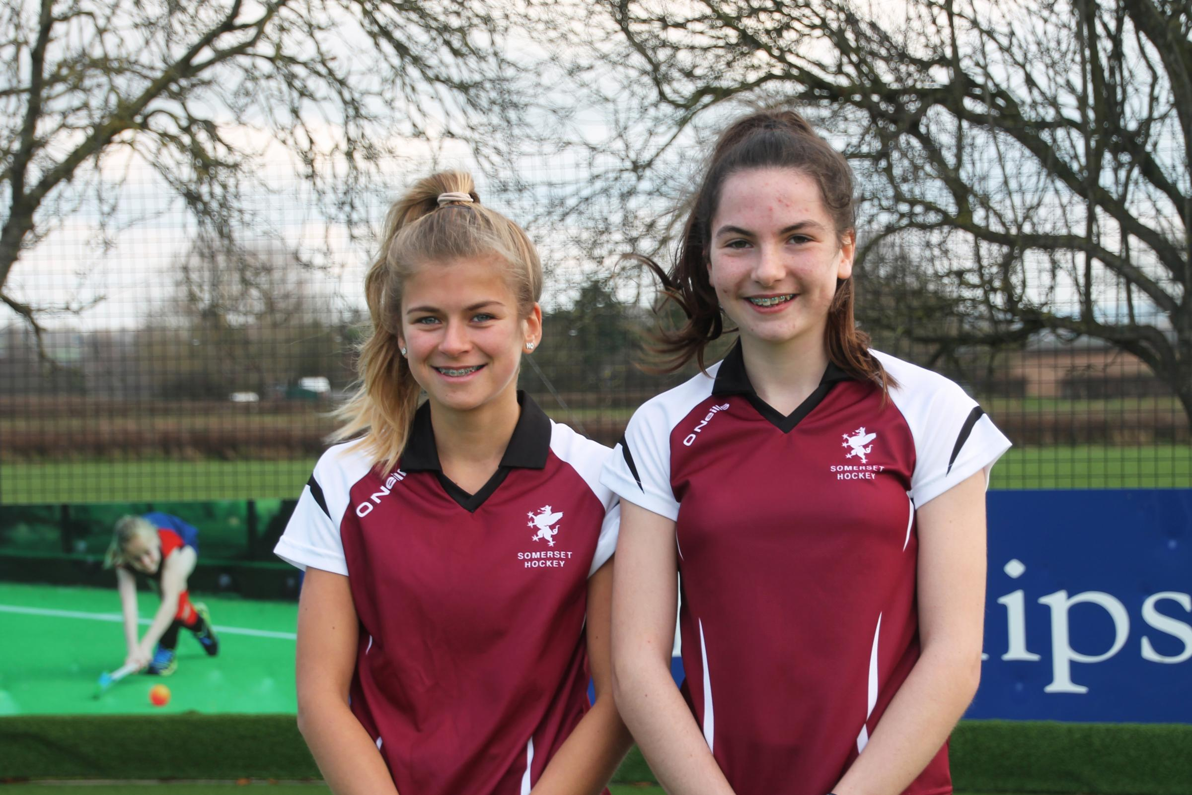 RISING STARS: Hockey players Harriet Wrelton and Emily Ogle