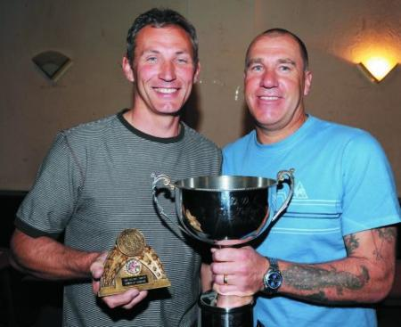 TOM Tolfree Memorial Cup winner N. Vickery (right) and runner-up N. Foxwell.