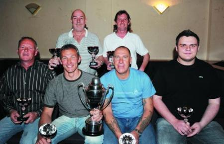 PREMIER Division winners Railway Wurzels are (back from left): T. Williams, M. Carp. Front: Tony 'the Breez' Milton, N. Foxwell, N. Vickery, G. Grant.