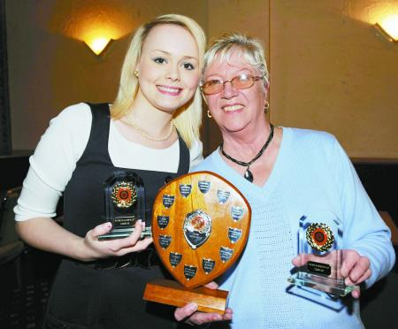 PAIRS runners-up Ellis Rogers and Mary Bona.