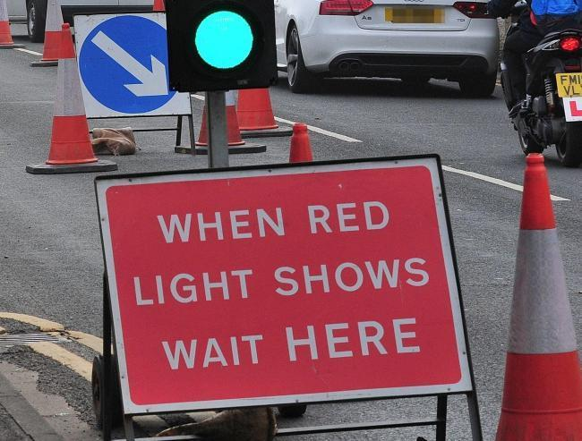 TEMPORARY LIGHTS: The lights at Chelston roundabout have since been removed