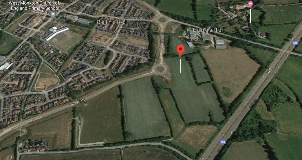 Monkton Heathfield Employment Land (Aerial View). CREDIT: Google Maps. Free to use for all BBC wire partners.