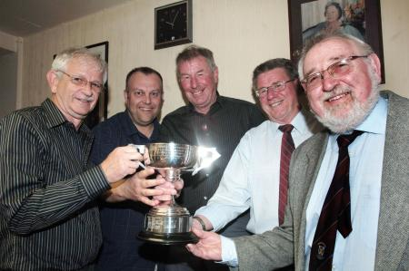 SECTION C winners Trinity Blues are (left to right): Pete Corcoran, Kevin Sedgbeer, Alan Parsons (capt) Jim Parsons, Pat Boobyer.