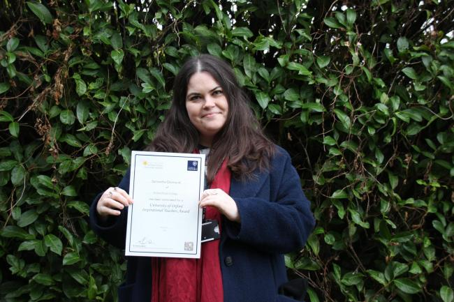 NOMINATION: Samantha Desmond, teacher at Richard Huish College