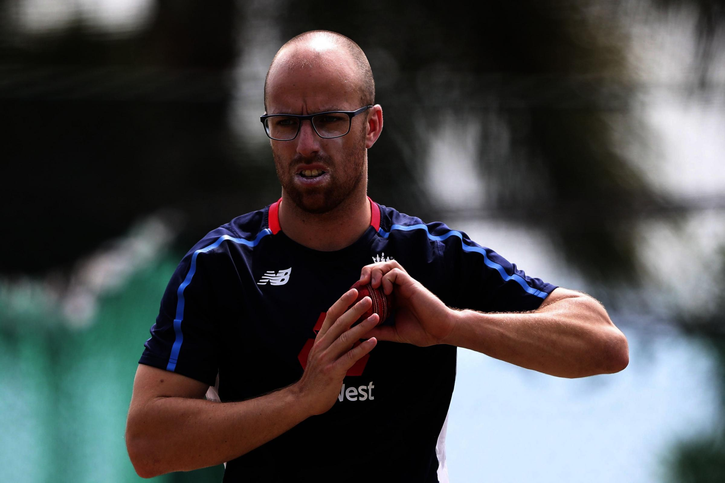 LEFT OUT: Somerset and England's Jack Leach prepares to bowl during a training session at the Sir Vivian Richards Stadium in North Sound, Antigua and Barbuda. Pic: PA Wire