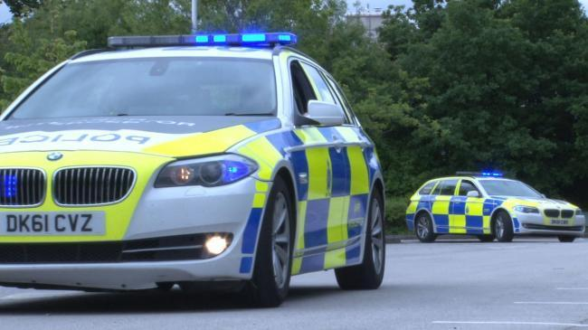 Police persued a car through Midsomer Norton to the A4174