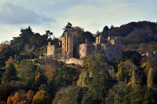 LANDMARK: Dunster Castle nestled in the hills PICTURE: Peter Mather