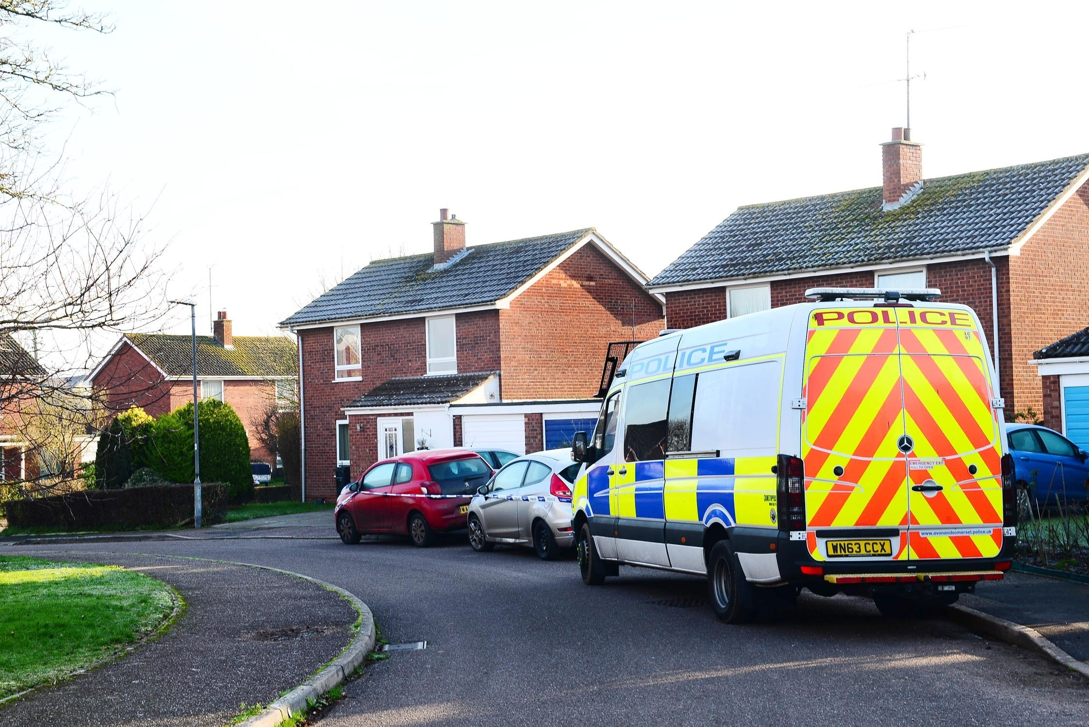 SCENE: The Stoke St Gregory street where the incident is alleged to have taken place
