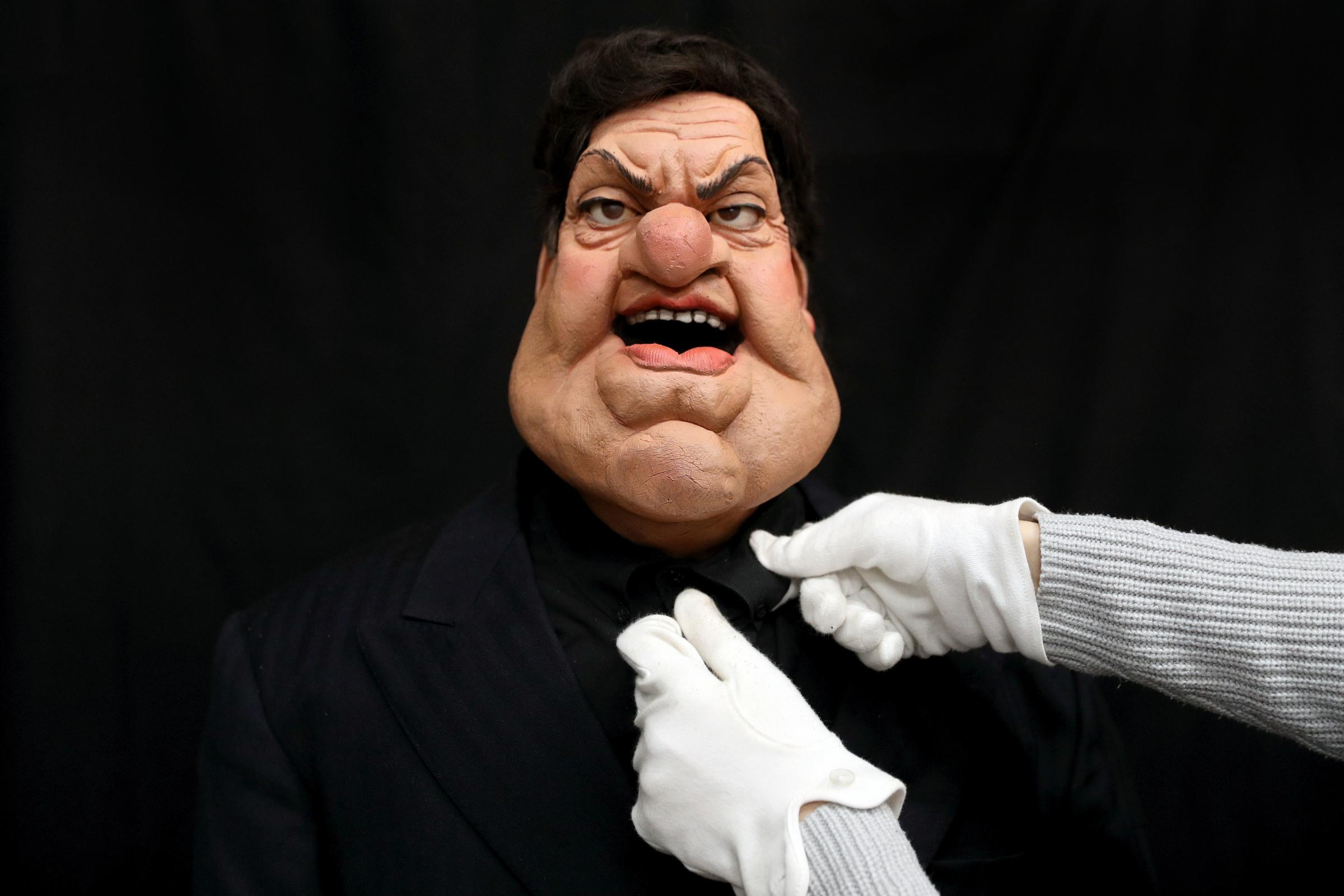 Somerset County Gazette: BAFTA-WINNING SHOW: Spitting Image puppet of Robbie Coltrane at the Prop Store head office near Rickmansworth. Photo: Andrew Matthews/PA Wire