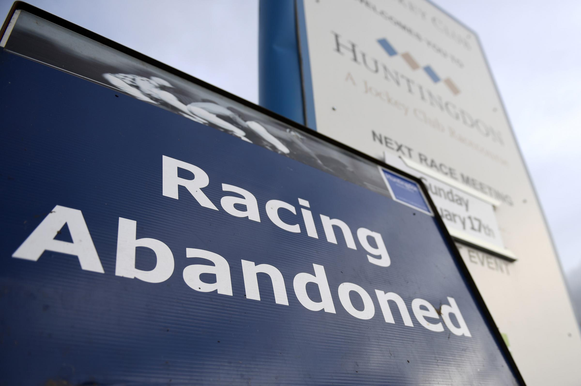 PROBLEMS: The outbreak has led to the cancellation of racing up and down the country. PICTURE: Joe Giddens/PA Wire