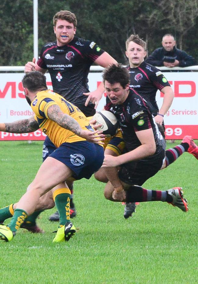 INFLUENTIAL: Nick Mason, who now combines his playing duties with a new off-field role at Taunton RFC, is excited to see the squad test themselves against Plymouth Albion