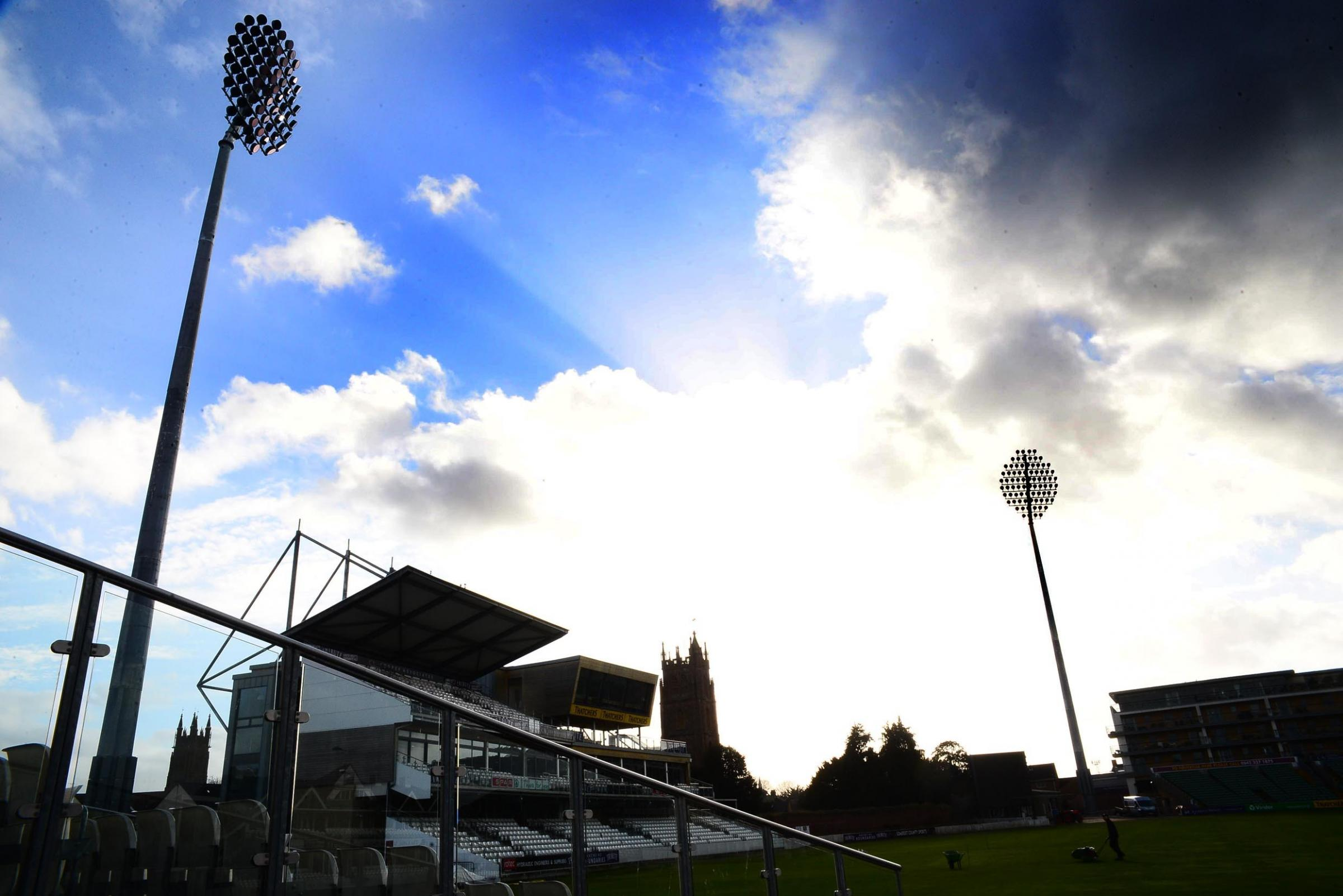LANDMARKS: The floodlights at the Cooper Associates County Ground in Taunton
