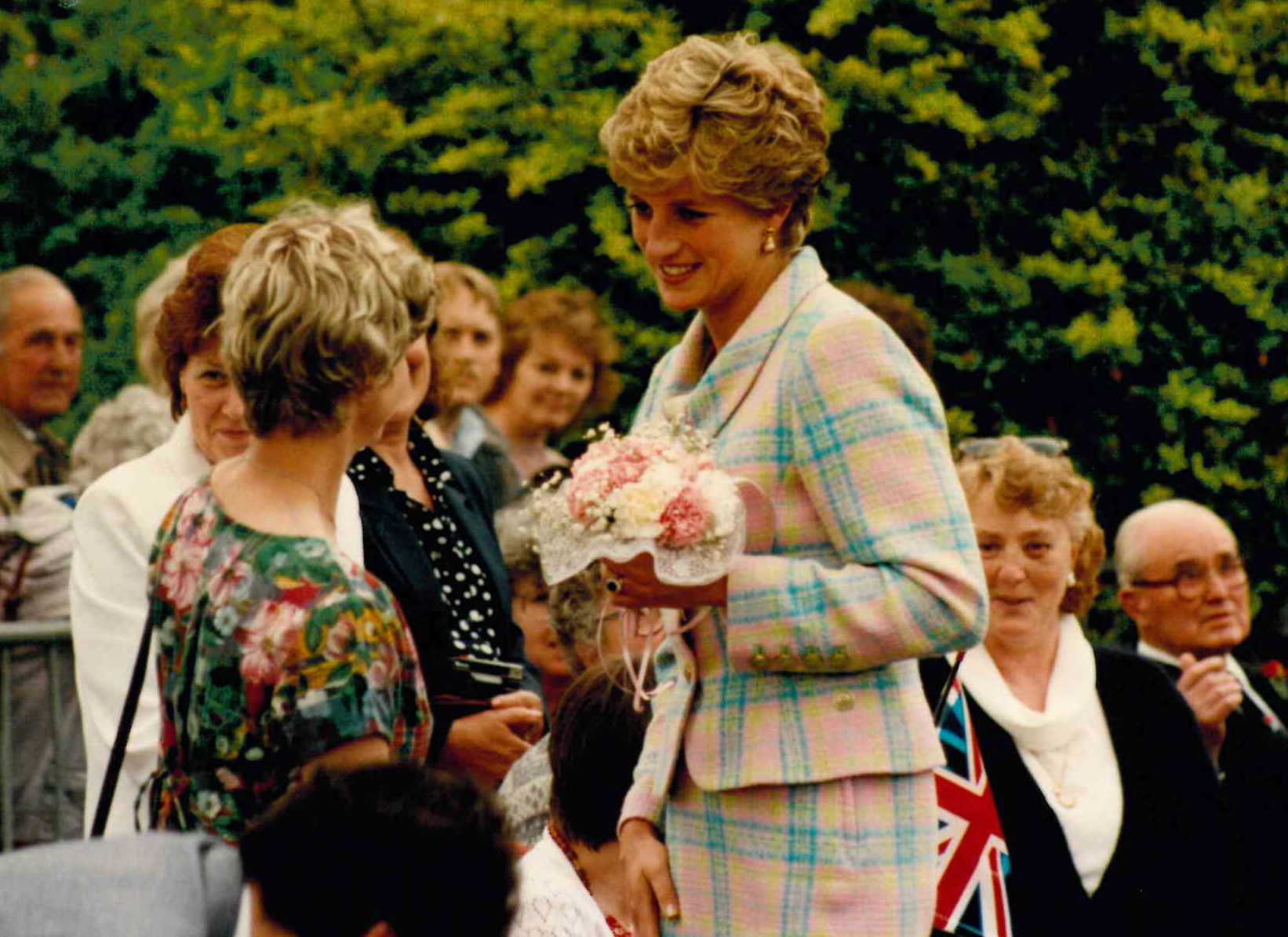 VISIT: Thousands turned out to see Princess Diana in Taunton in June, 1993